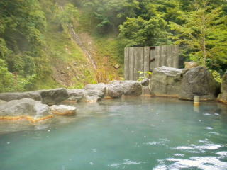 Kaniyu Onsen Mixed bathing outdoor bath